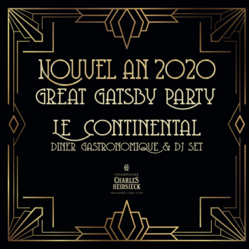 Nouvel An 2020 : a Great Gatsby kind of party !
