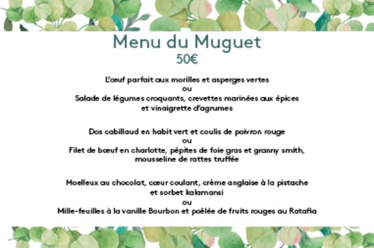 Menu du Muguet