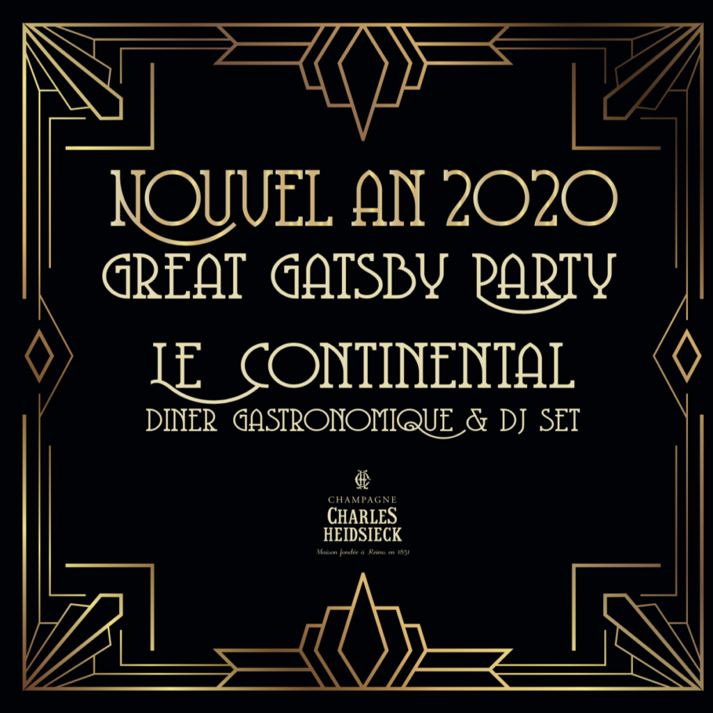 Continental menu Nouvel An 2019/2020 page 1
