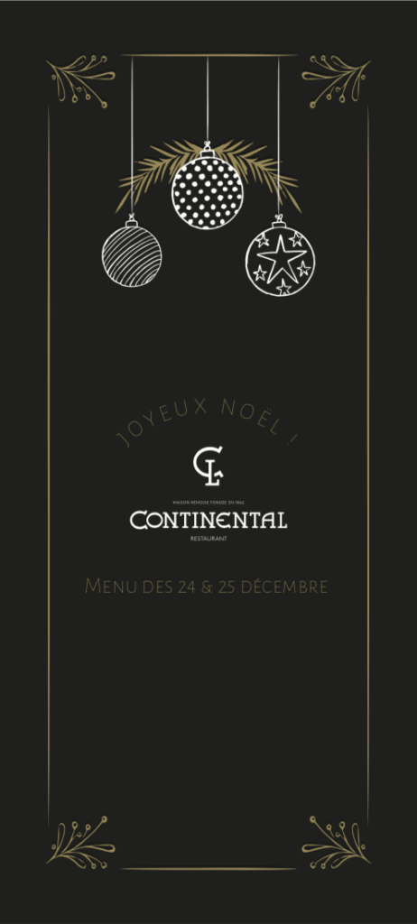 Continental menu de Noël 2019 page 1
